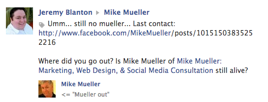 Mueller OUT
