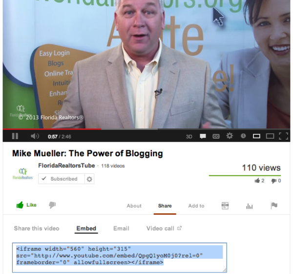 Video Embed Code