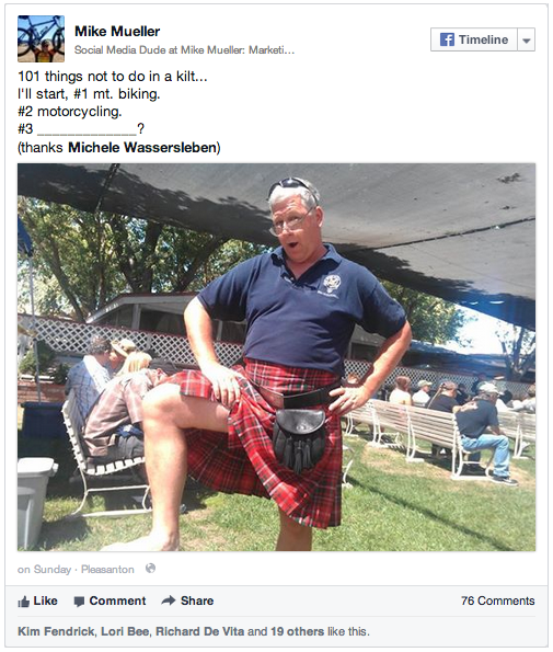 Mike in a Kilt