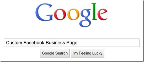 Google Search for Custom Facebook Business Pages
