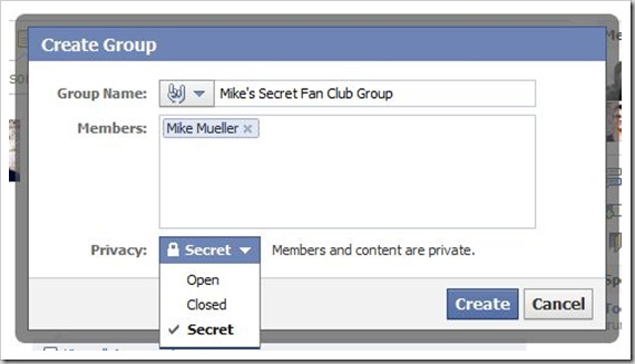 I really don't have a secret fan club group!