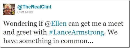 Clint's Tweet