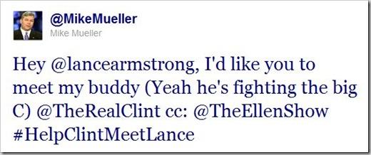 My Tweet to Lance