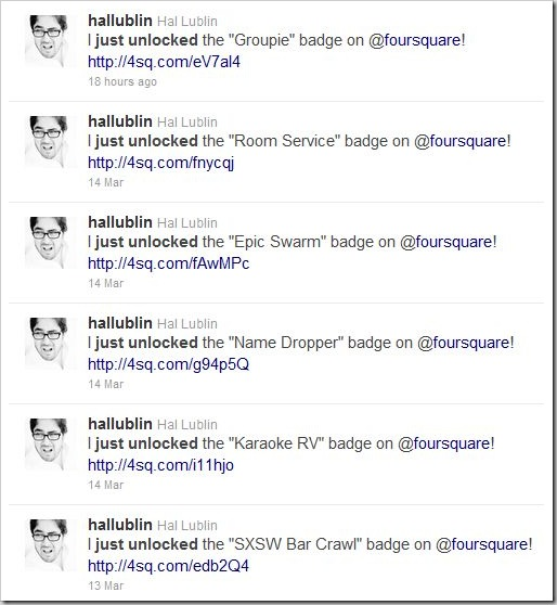 Hal is THE BADGE HUNTER!