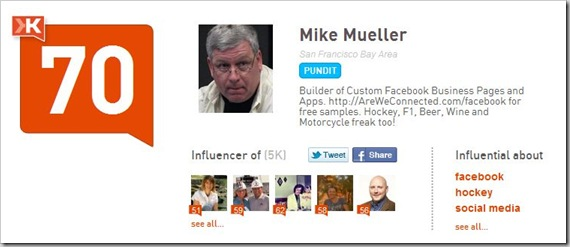 Mike on klout