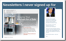 newsletters I never sign up for