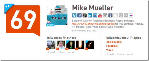mike's klout