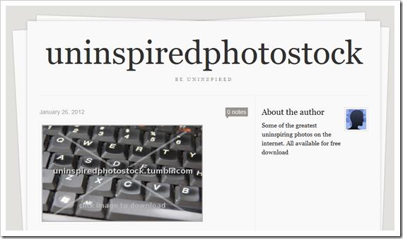 uninspiredphotostock, the website