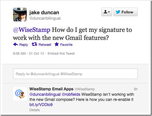 wisestamp tweet