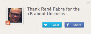 I'm influential in Unicorns