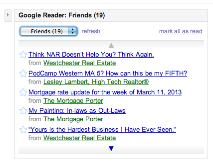 My FeedReader on iGoogle