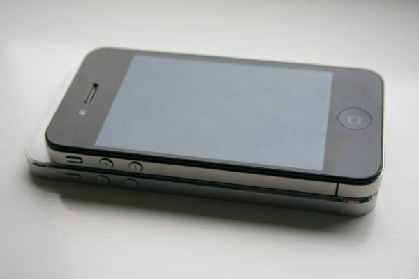 iPhone 5 with an iPhone 4 on Top