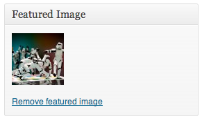 Removing a Featured Image