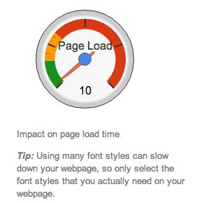 Font Load Speed