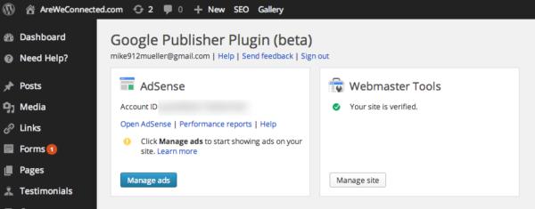 google plugin dashboard