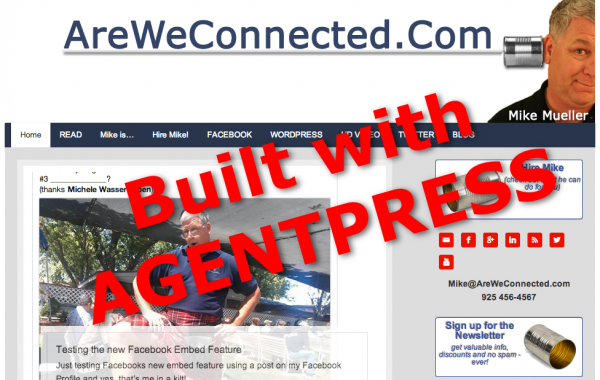 AreWeConnected.com built on AgentPress