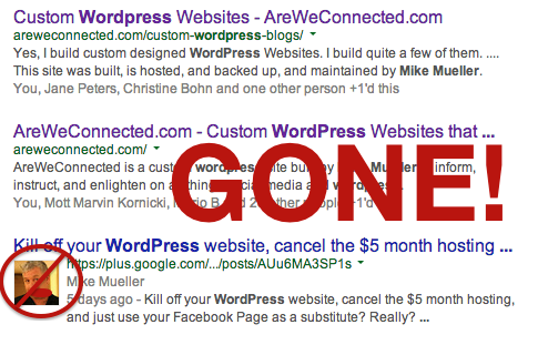 Google Authorship is Gone