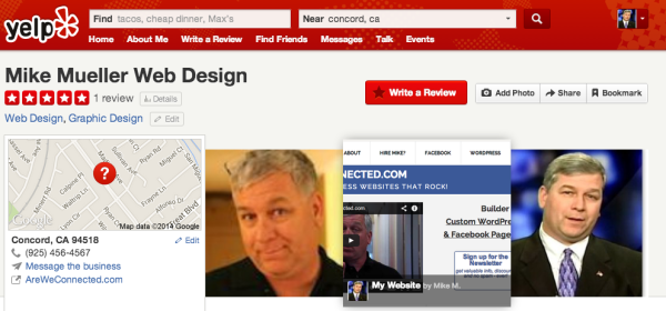 Mike Mueller on Yelp