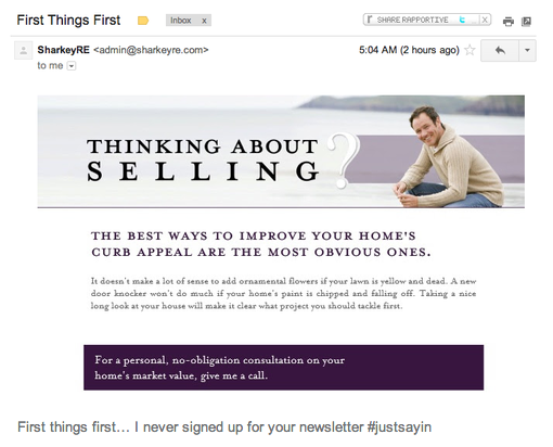 Yet another newsletter I never signed up for