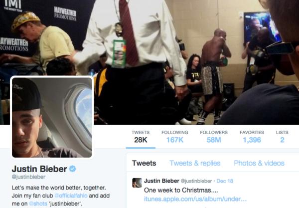 Justin Bieber on Twitter