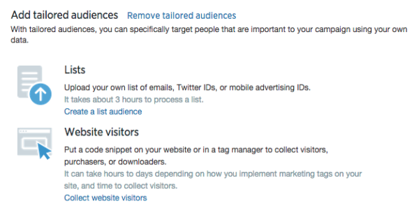 Tailored Audiences on Twitter
