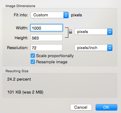 Resized image was a fraction of the file size!