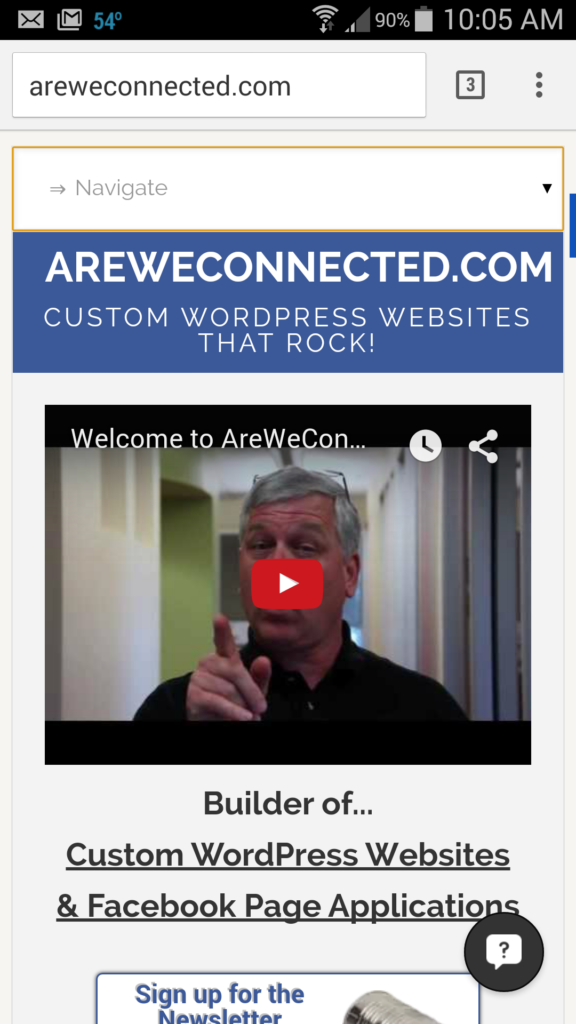 areweconnected on mobile