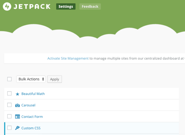 Jetpack custom CSS
