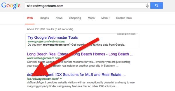 subdomain in Google search