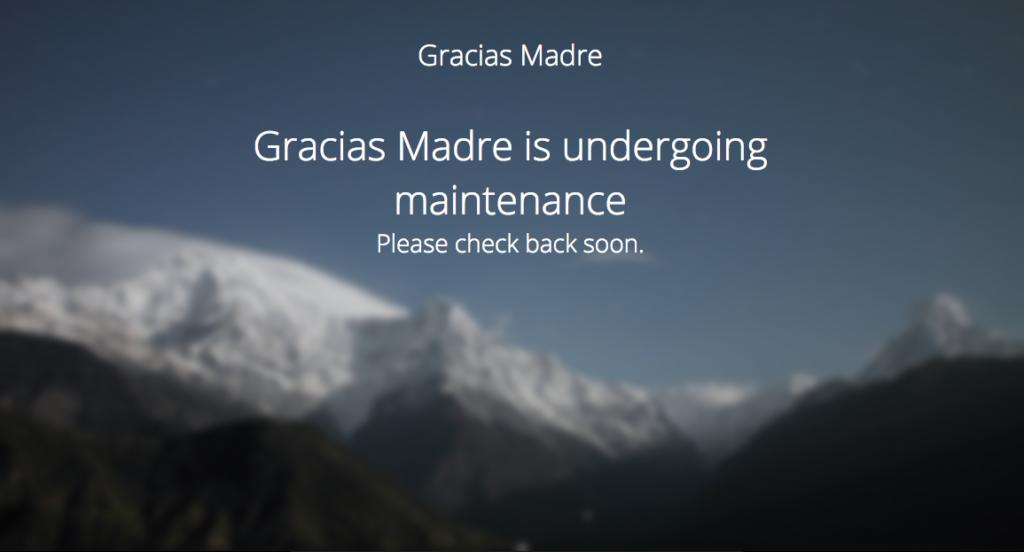 The Gracias Madre Website