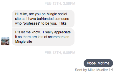 Spoofed on Christian Mingle too