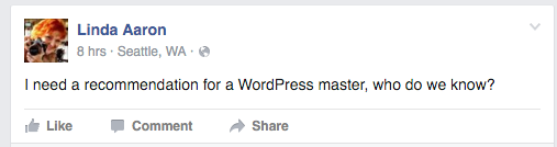 I need a recommendation for a WordPress master