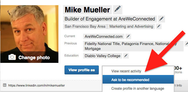 Ask to be Recommended on Linkedin