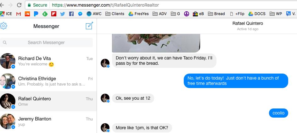 Facebook's Desktop Messenger