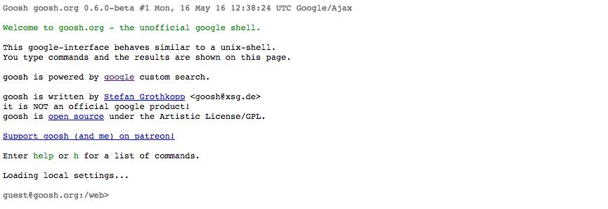 Goosh.org