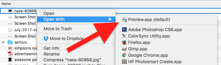 How to open an image up in Preview on a Mac - AreWeConnected com