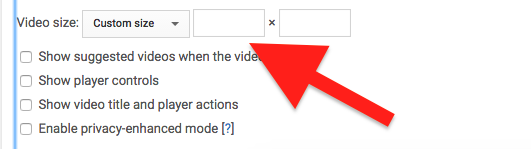 Changing the width of the video