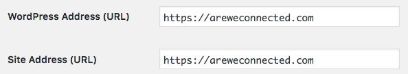 https for AreweConnected.com