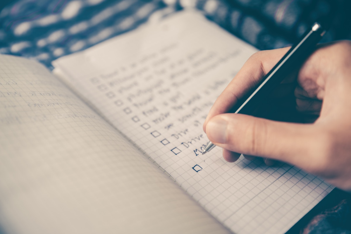 checklist for consistency