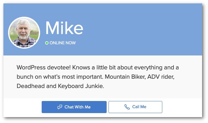 Chat with Mike