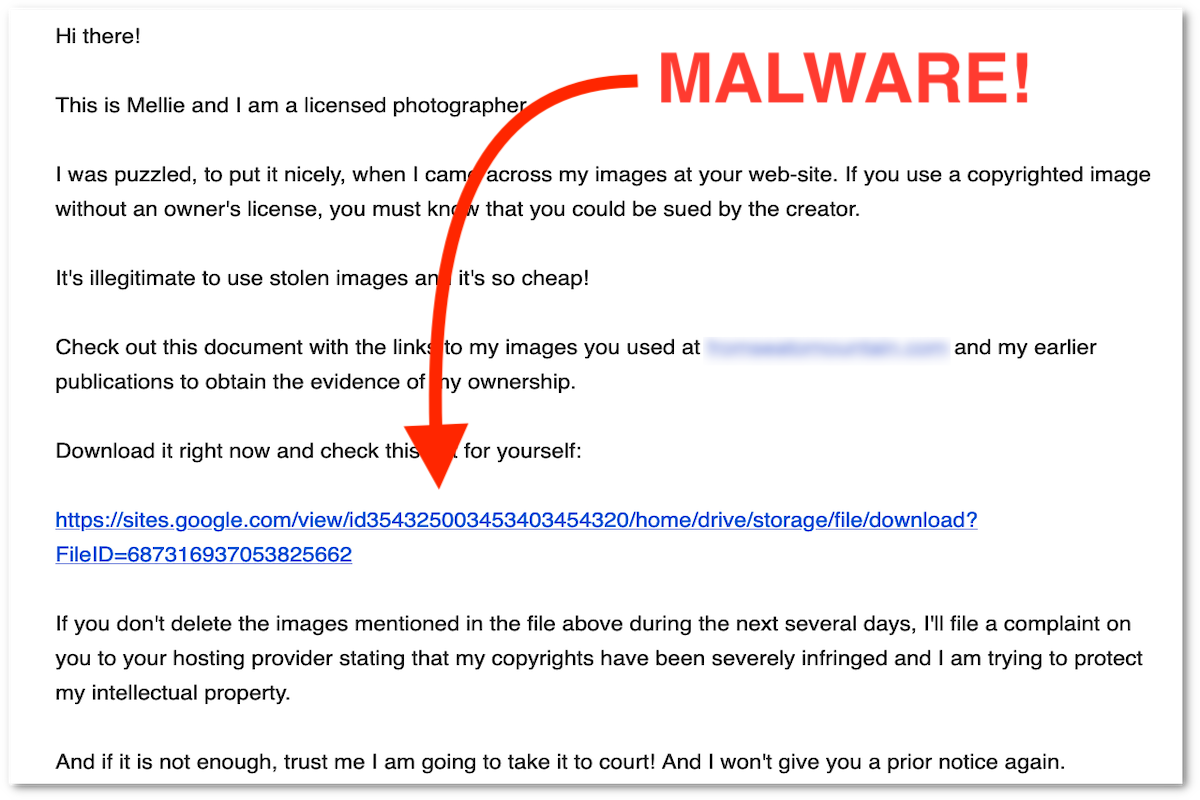 Malware in your Contact Form